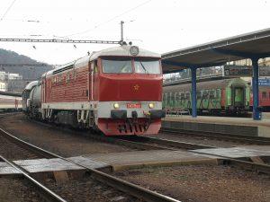 Cecaňa T478.1201 na požiarnom vlaku na ceste do Dunajskej Stredy
