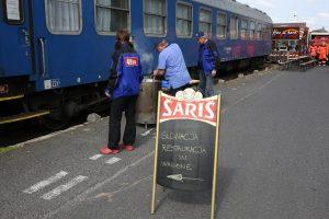Označenie reštauračného vozňa ALBATROS klubu vo Wolsztyne
