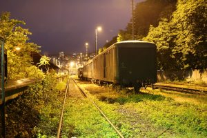 Pohľad na súpravu vlaku v Múzeu dopravy