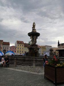 Fontána na námestí Českých Budějovic