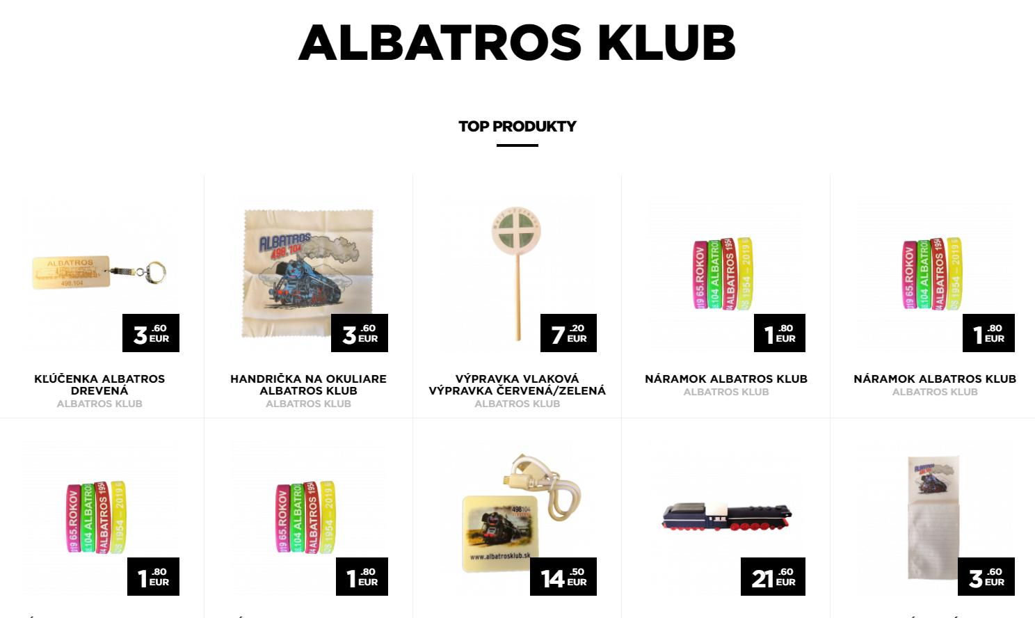 e-shop ALBATROS klub
