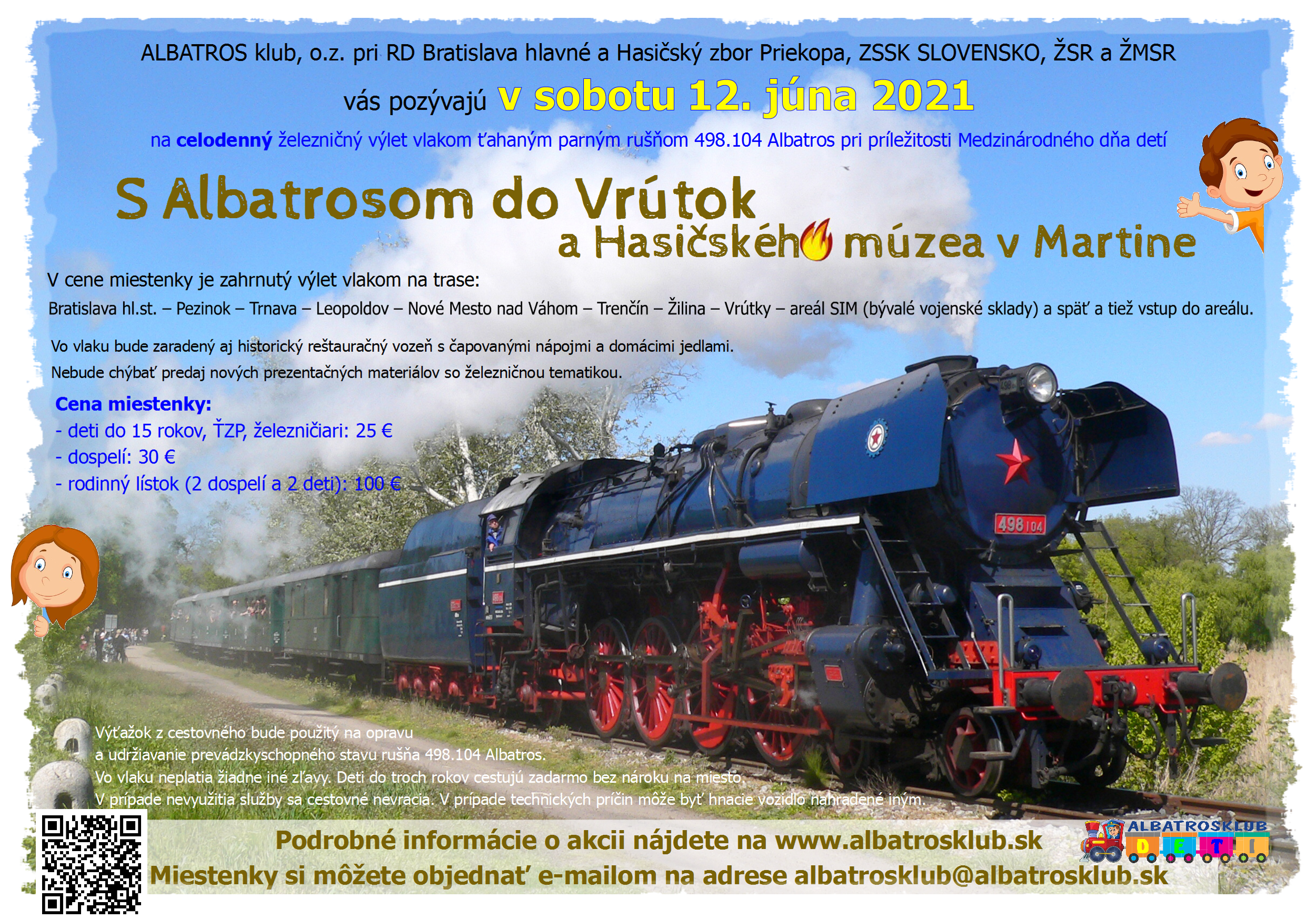 MDD jazda s Albatrosom 498.104, QR