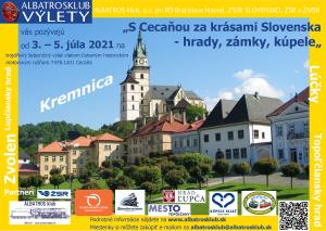 """Hrady, zámky, kúpele. ALBATROS klub, o. z. pri RD Bratislava hlavné, ZSSK SLOVENSKO, ŽSR a ŽMSR vás pozývajú od 3. – 5. júla 2021 na trojdňový železničný výlet vlakom ťahaným historickým motorovým rušňom T478.1201 Cecaňa """"S Cecaňou za krásami Slovenska – hrady, zámky, kúpele """" V cene miestenky je zahrnutý výlet vlakom s nocľahom a stravou na trase podľa programu. CESTOVNÝ DENNÍK ( ITINERÁR ) SOBOTA 3. júla: – odchod z Bratislava hl.st. o 7:30 – pobyt v Topoľčanoch 10:10 – 12:10, prehliadka historickej časti mesta so sprievodcom – pobyt v Prievidzi 14:10 – 17:15, prehliadka ZOO + Bojnický zámok + kúpele Bojnice, na programe ešte pracujeme – príchod do Kremnice o 18:42, nočná prehliadka Mestského hradu NEDEĽA 4. júla: – Kremnica odjazd o 10:30, dovtedy prehliadka Múzea mincí a medailí a prehliadka streleckých terčov – pobyt v kúpeľoch Sliač 11:25 – 14:20, kúpanie, prehliadka prameňov – pobyt v Slovenskej Ľupči 15:00 – 17:30, návšteva Ľupčianskeho hradu – Telgártska slučka – prejazd – príchod do Popradu o 21:30 PONDELOK 5. júla: – jazda historickou električkou Kométa z Popradu do Starého Smokovca – lanovkou na Hrebienok a späť – späť historickou električkou do Popradu – z Popradu do Liptovskej Teplej, pobyt 12:20 – 16:20 kúpele Lúčky, na programe ešte pracujeme – pobyt vo Vrútkach 17:00 – 18:00 – príchod do Bratislavy o 20:50 Plán jazdy sa môže zmeniť podľa dopravnej situácie a počasia. Vo vlaku bude zaradený aj historický reštauračný vozeň s čapovanými nápojmi a domácimi jedlami. Miestenky a rezervácie Cena pre 1 osobu: 110 eur Zvýhodnená cena kupé pre 1 – 4 osoby je 400 eur. V cene je zahrnuté ubytovanie v lehátkovom vozni na 2 noci, jazda vlakom, jazda historickou električkou, občerstvenie (káva a čaj) v neobmedzenom množstve v reštauračnom vozni ALBATROS klubu, plná penzia. V prípade zrušenia jazdy z dôvodu pandemickej situácie ALBATROS klubom, bude vrátené cestovné v plnej hodnote. V prípade storna objednávky zo strany cestujúceho do 13. 6. 2021 bude vrátená plná """